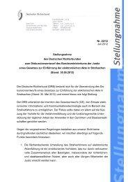Deutscher Richterbund (PDF, 88 KB, Datei ist nicht barrierefrei)