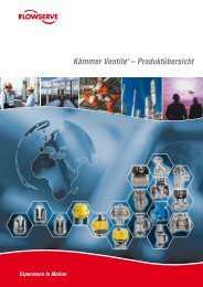 Kämmer Ventile – Produktübersicht - Flowserve Corporation