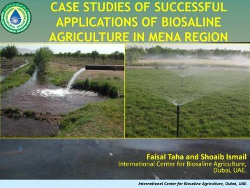 Biosaline Agriculture - Arab Water Council