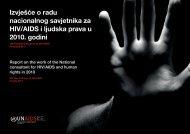 Izvješće o radu nacionalnog savjetnika za HIV/AIDS ... - UNDP Croatia