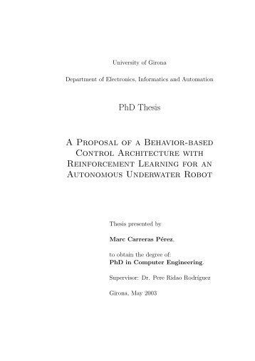 engineering phd thesis proposal Proposal for a doctoral program in electrical 78 dissertation the department of electrical and computer engineering has offered graduate programs for.