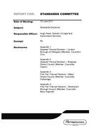 Standards Decisions PDF 268 KB - Harrow Council