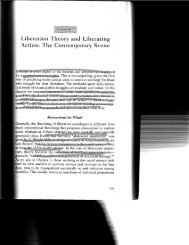. Liberation Theory and Liberating I. Action: The Contemporary Scene