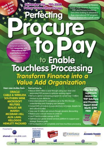 SSL P2P brochure USA 6 page.indd - The Accounts Payable Network