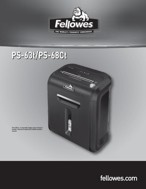 PS-63t/PS-68Ct - Fellowes