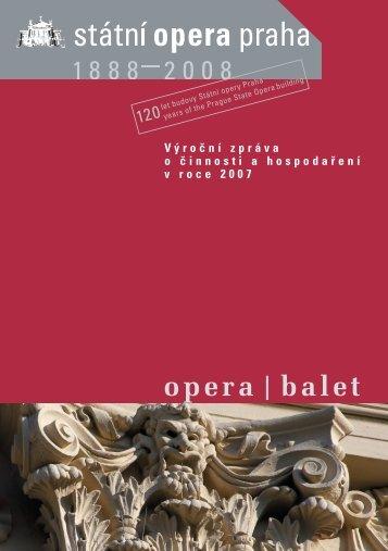 Výroční zpráva o činnosti a hospodaření Státní opery Praha za rok ...