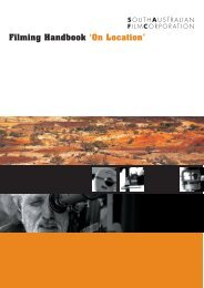 Filming Handbook 'On Location' - South Australian Film Corporation