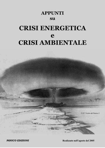 CRISI ENERGETICA e CRISI AMBIENTALE - Isole nella Rete
