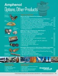 Options, Other Products - Amphenol Aerospace