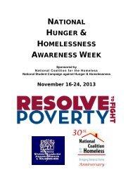 Hunger & Homelessness Awareness Week Manual - National ...