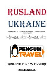 PRISLISTE PER 17/11/2009 - Penguin Travel