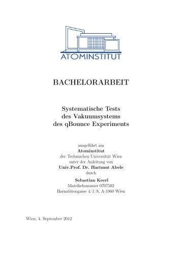 BACHELORARBEIT - Atominstitut