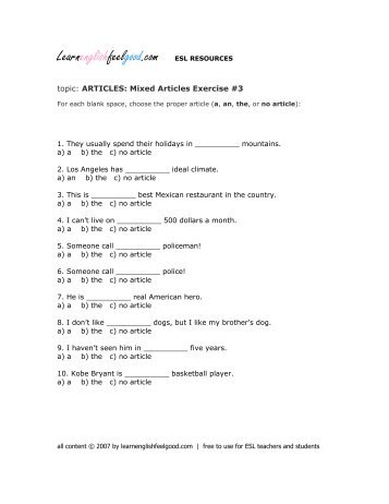 articles to be able to advance everyday terms pdf