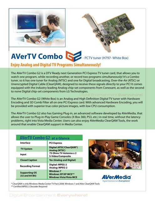 DRIVERS AVERMEDIA H797 PCIE COMBO