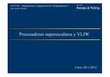 Procesadores superescalares y VLIW. Nuevas tendencias