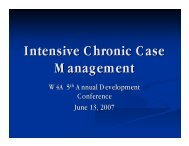 Intensive Chronic Case Management - Washington Association of ...