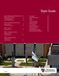 Style Guide - The Nebraska Medical Center