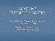 Central Montana RAC Meeting Presentation - September 15, 2009