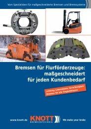 Bremsen für Flurförderzeuge: maßgeschneidert für jeden ... - Knott