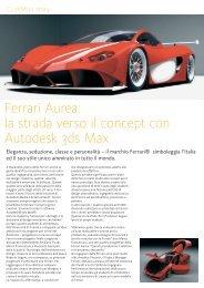 Ferrari Aurea: la strada verso il concept con Autodesk 3ds Max