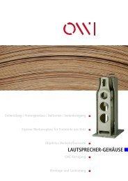 LAUTSPRECHER-GEHÄUSE - OWI GmbH