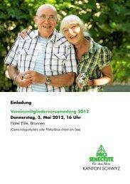 PS sz einladung A5 2011.indd - Pro Senectute Schwyz