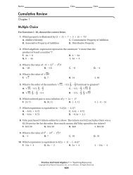 unit 1 cumulative review - MathChamber