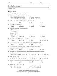 cumulative review 1-10 - MathChamber