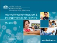 National Broadband Network & the Opportunities for Telework