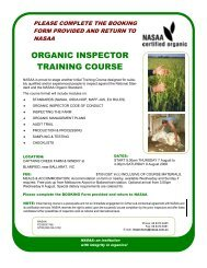 NASAA Inspector Training booking form Aug 2008