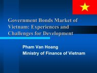 Government Bonds Market of Vietnam: Experiences ... - World Bank