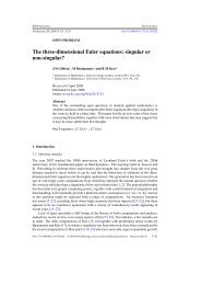 The three-dimensional Euler equations: singular - Imperial College ...