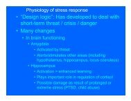 """• """"Design logic"""": Has developed to deal with short-term threat / crisis ..."""