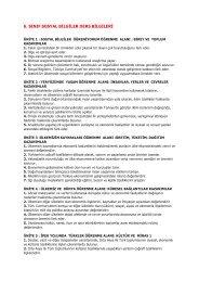 6. sınıf ders bilgileri