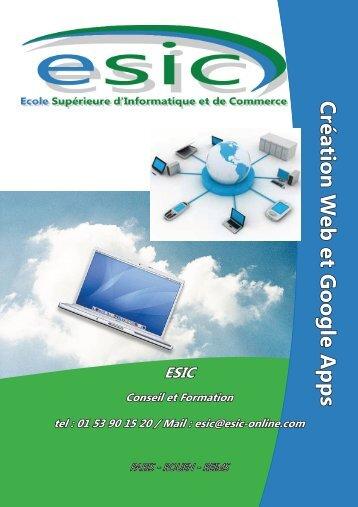 Création Web - Groupe ESIC