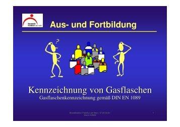 Kennzeichnung von Gasflaschen - Feuerwehr Hummetroth