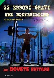 22 errori gravi nel bodybuilding (PDF) - Olympian's News