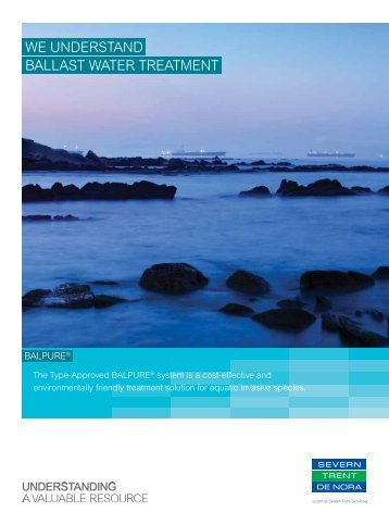 we understand ballast water treatment - Severn Trent De Nora, LLC