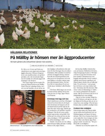 På Mällby är hönsen mer än äggproducenter - Ekologiska ...