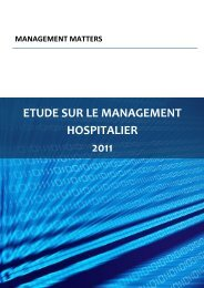 ETUDE SUR LE MANAGEMENT HOSPITALIER 2011 - World ...