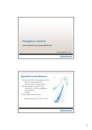 1 Prelegging av ankerliner Agenda for presentasjonen
