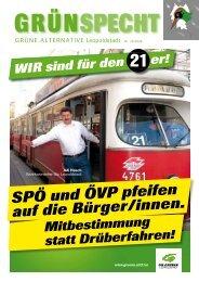 SPÖ und ÖVP pfeifen auf die Bürger/innen. - Die Grünen Leopoldstadt