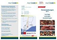 maricube Flyer Veranstaltungen 2011