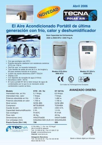 Aire Acondicionado Portátil - Tecna