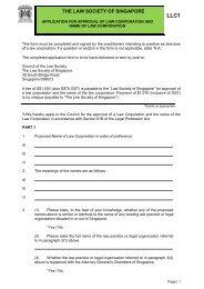 LLC 1 - Law Society of Singapore