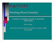 Working (Poor) Families - NATSEM