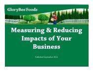 GloryBee Foods - Sustainable Food Trade Association
