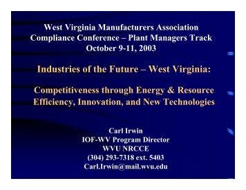 IOF-WV - Industries of the Future - West Virginia