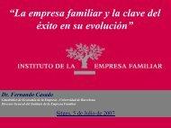 """""""La empresa familiar y la clave del éxito en su evolución"""""""