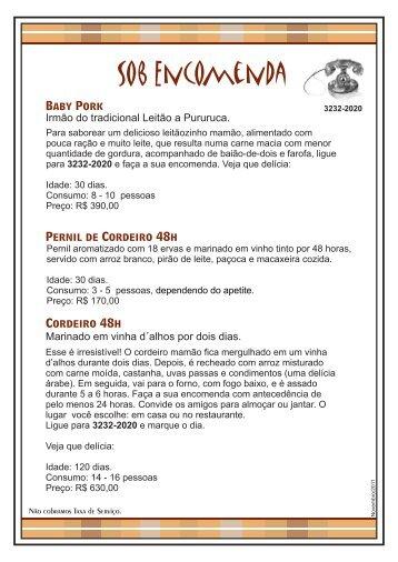 Baby Pork Cordeiro 48h Pernil de Cordeiro 48h - Favorito Restaurante